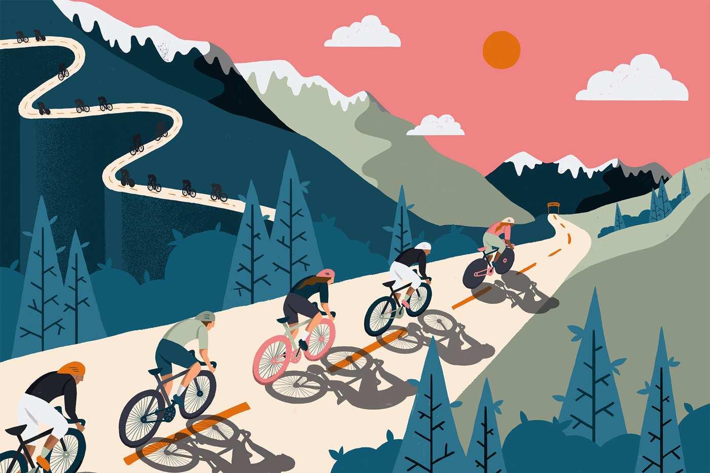 papel pintado ciclismo