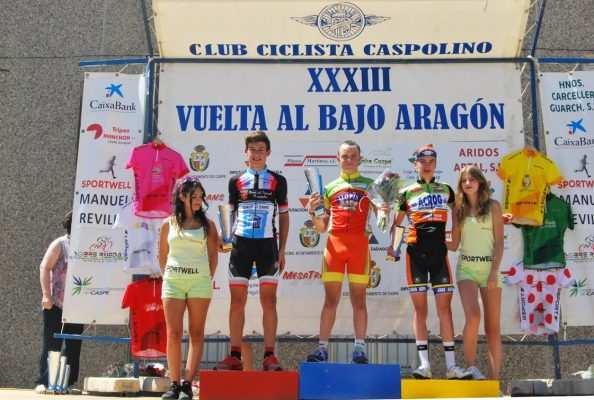 Imagen del podio de la Vuelta al Bajo Aragón de 2016