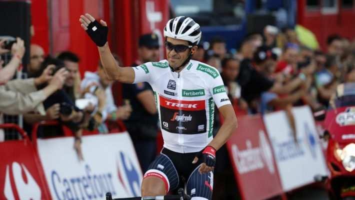Contador con el maillot de la Combinada