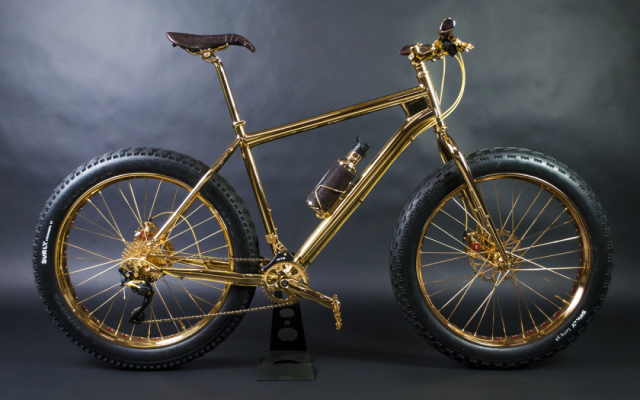 Aquí está la 24k Gold Extreme Mountain Bike
