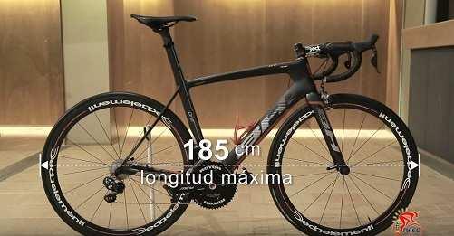 Medidas oficiales de bicicleta