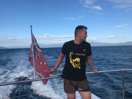 Iván nos envía esta foto desde Australia y nos aclara que no pedaleará con canguros