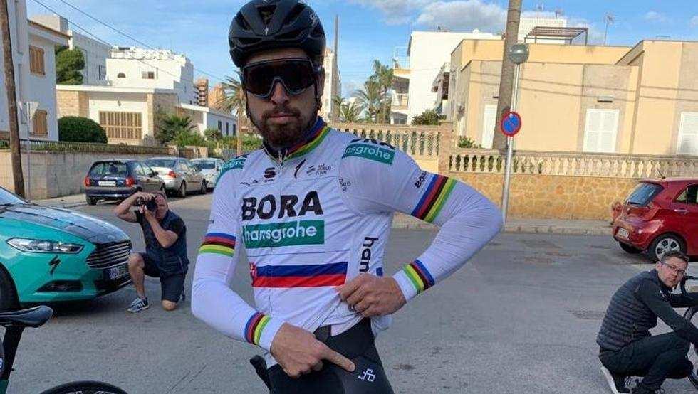 Sagan en la concentración del Bora en Mallorca