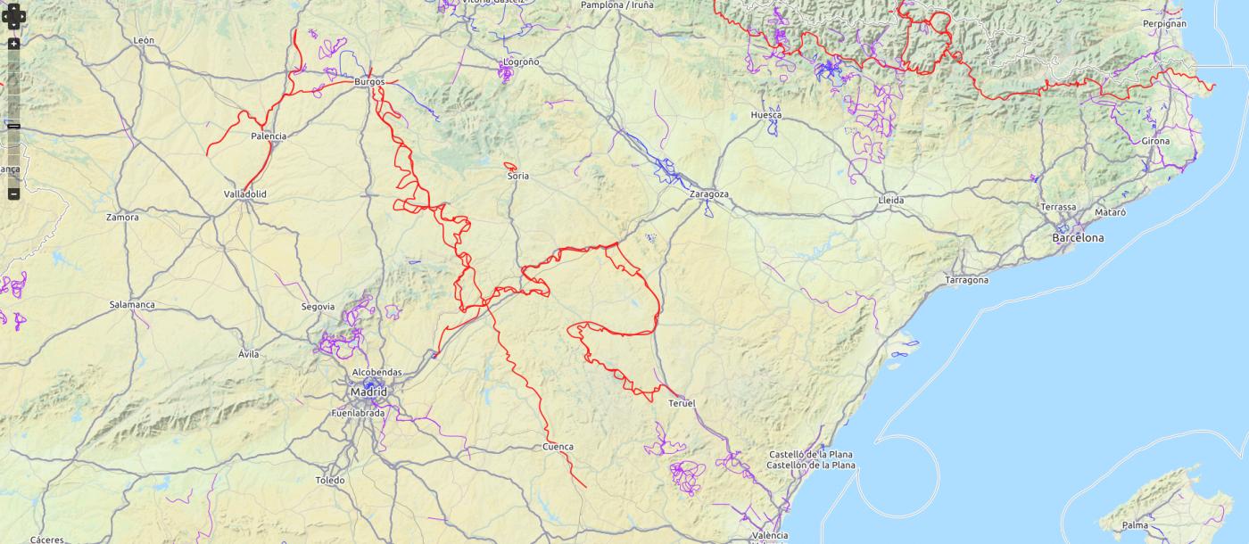Carriles bici España