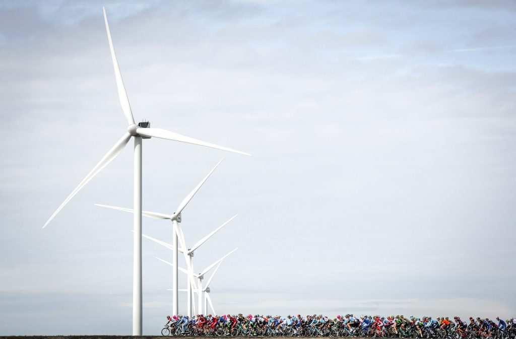 turbinas pelotón ciclista