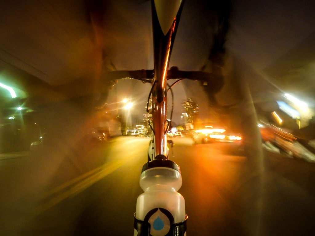Nueva York en bici de noche