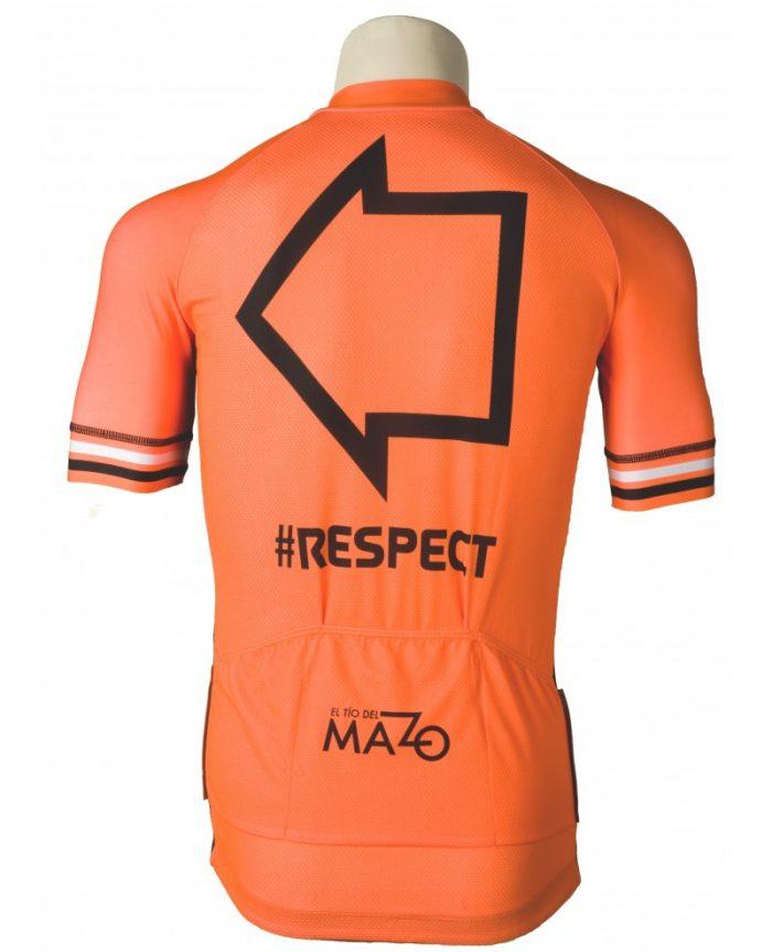 maillot-corto-el-mazo-respect-naranja-fluor