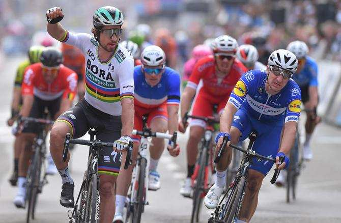 Sagan gana por delante de Viviani la carrera de 2018