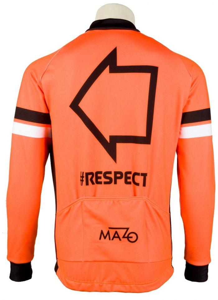 Chaqueta El Tío del Mazo Respect naranja trasera