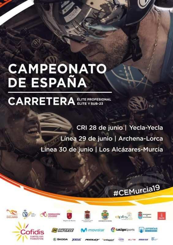 Cartel Oficial Campeonatos de España de Ciclismo de 2019