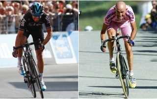 Landa y Pantani en pleno esfuerzo. Montaje de www.marca.com