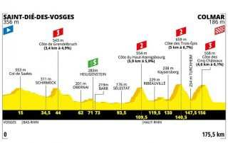Perfil de la etapa 5 del Tour de Francia 2019: Saint-Dié-des-Vosges- Colmar
