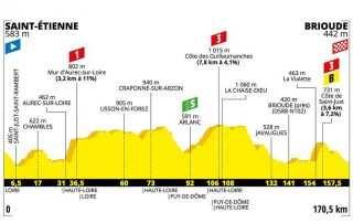 Perfil de la etapa 9 del Tour de Francia 2019: Saint-Étienne-Brioude
