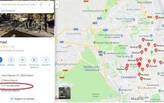 Bicimad en Google Maps