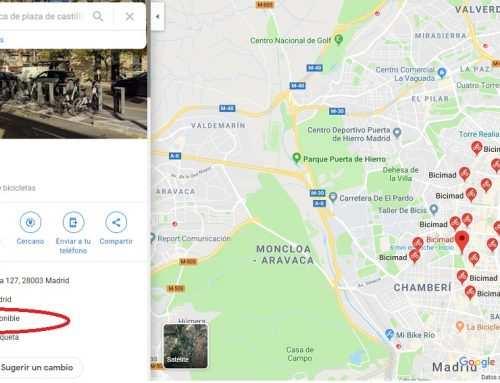 Google Maps ofrece información sobre el número de bicis públicas disponibles en Madrid (y Barcelona)