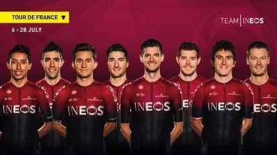 Equipo Ineos en el Tour de Francia 2019