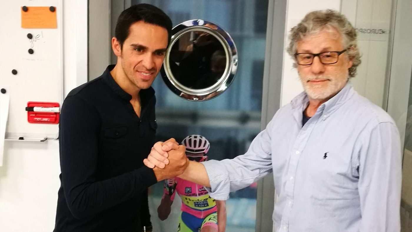 Javier Ares y Alberto Contador