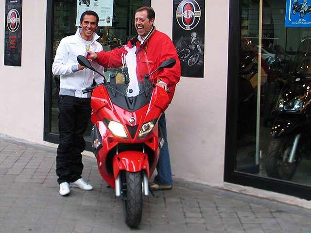 Contador en moto