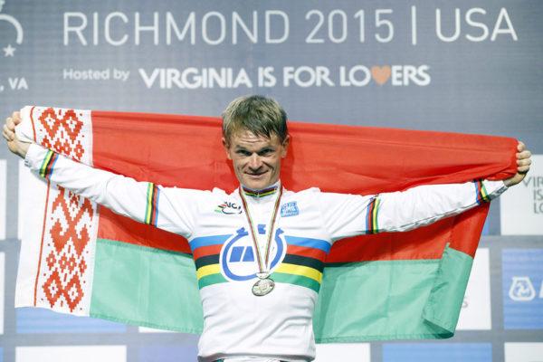 Kiryenka  con su triunfo en el campeonato del mundo de contrarreloj  de Richmond en 2015