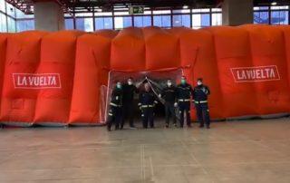 Carpa Vuelta a España en hospital de IFEMA