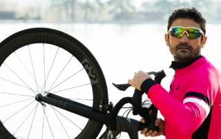 bici maillot rosa