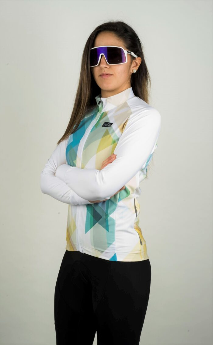 maillot manga larga mujer blanco