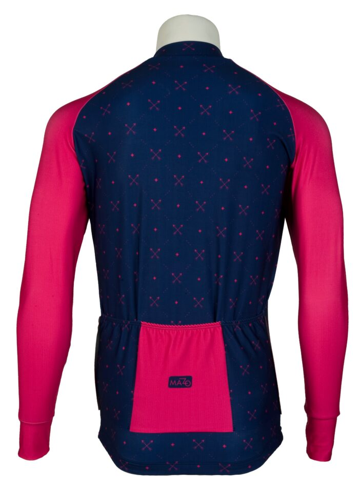 maillot manga larga hombre rosado y azul