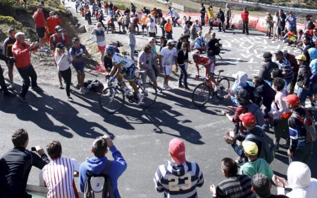 Subida al Cuitu Negro en la Vuelta 2012