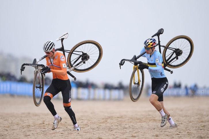 van aert y van der poel ciclocross