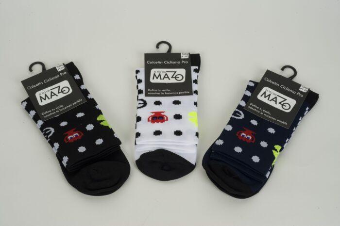 calcetines de pack-man ciclismo