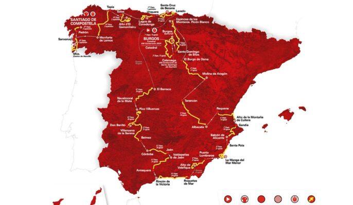 Mapa del recorrido de La Vuelta 2021
