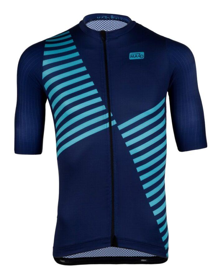 maillot de ciclismo azul hombre