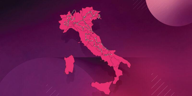 Mapa recorrido del Giro 2021