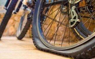 bicicleta pinchada